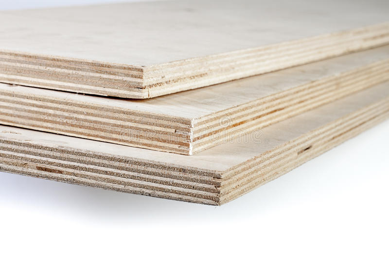 Three Light Plywood Boards Stacked Royalty Free Stock ...