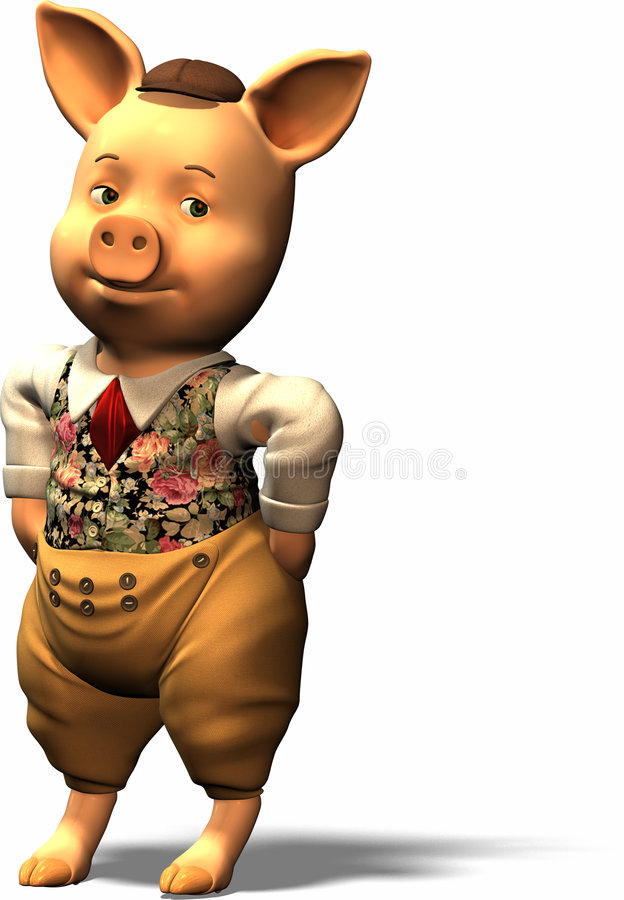 Free Three Little Pigs - Part 1 Royalty Free Stock Photo - 744545