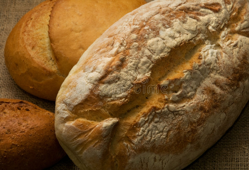 Download Three loaves of bread stock photo. Image of homemade, freshness - 4820592