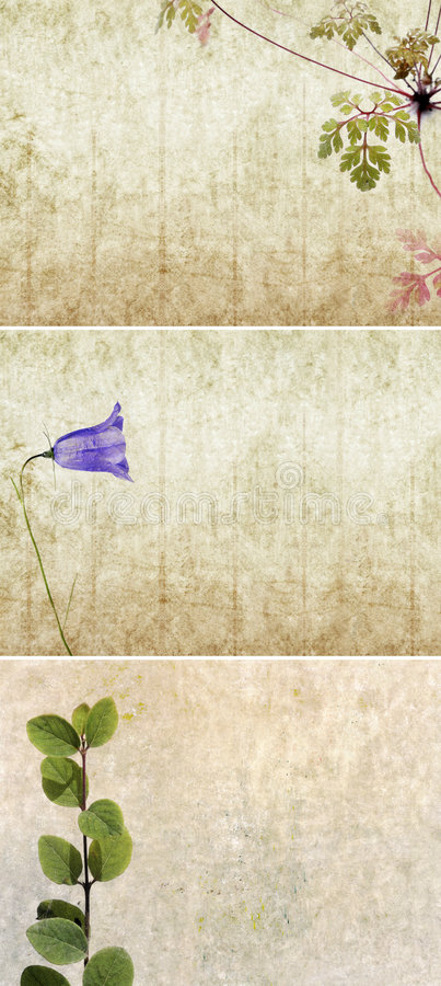 Three lovely background textures. Or banners. very useful design elements stock photos