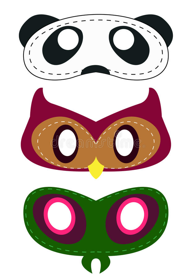 Three mask icon stock illustration