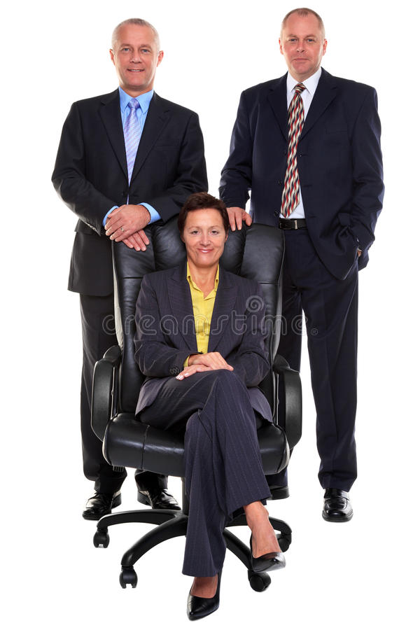 Three mature business people royalty free stock image