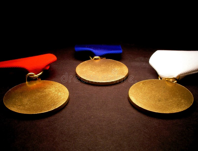 Download Three Medals stock image. Image of obtain, compete, sport - 229759