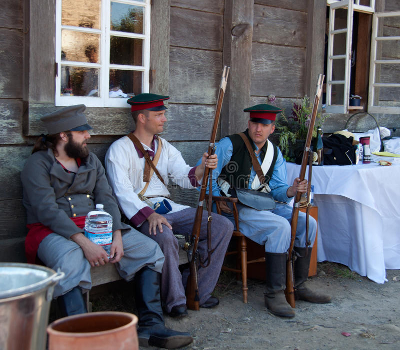 Download Three Men In Russian Settler's C Editorial Photography - Image: 25999397