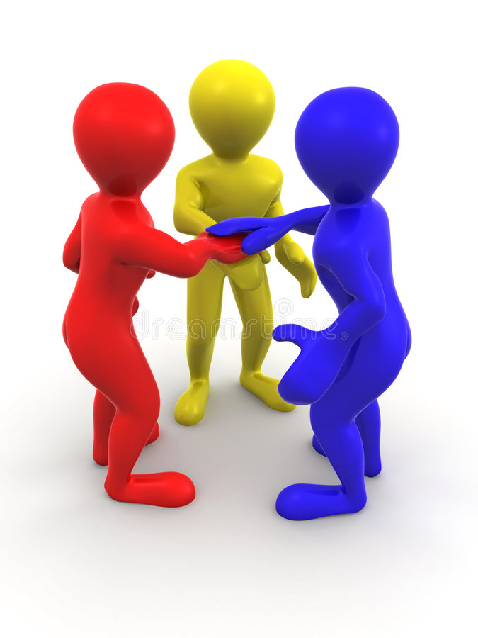 Download Three men. Teamwork stock illustration. Image of concepts - 9119371