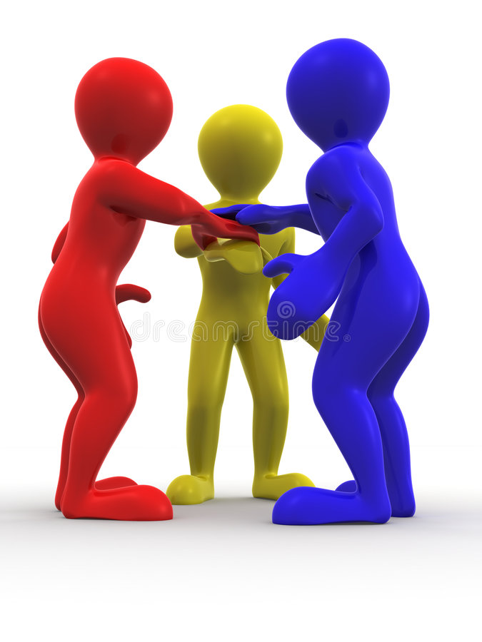 Download Three men. Teamwork stock illustration. Image of connection - 9248414