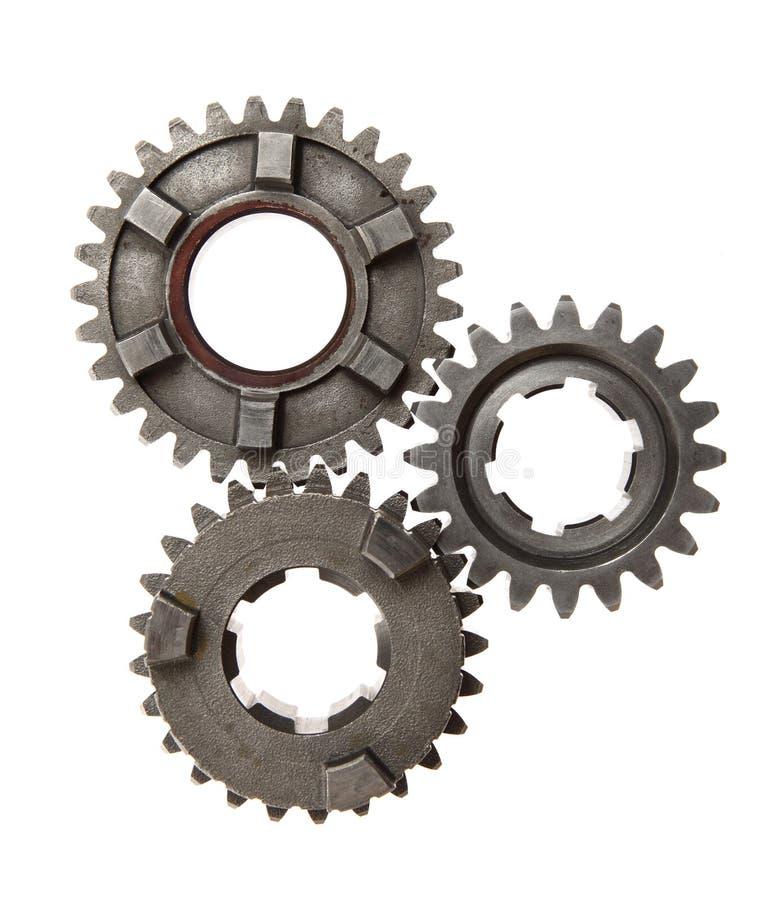 Three metal gears. royalty free stock image
