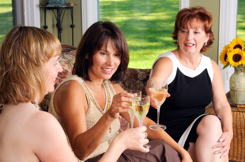 Three Middle Age Women stock images