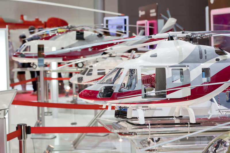 Three miniature helicopter royalty free stock photography