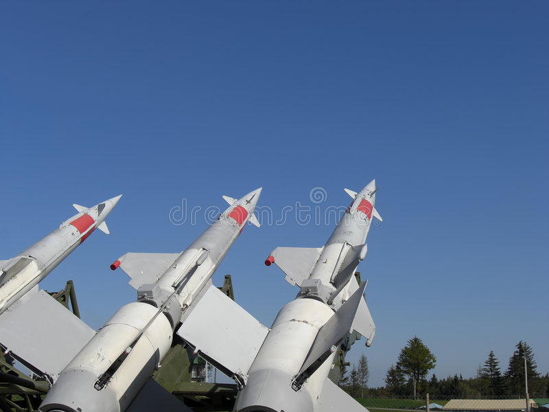 Download Three missiles are ready stock photo. Image of museum - 8491756