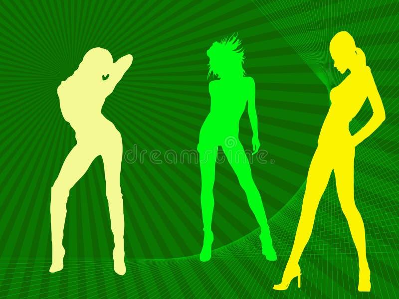Download Three models stock illustration. Illustration of illustration - 5463341