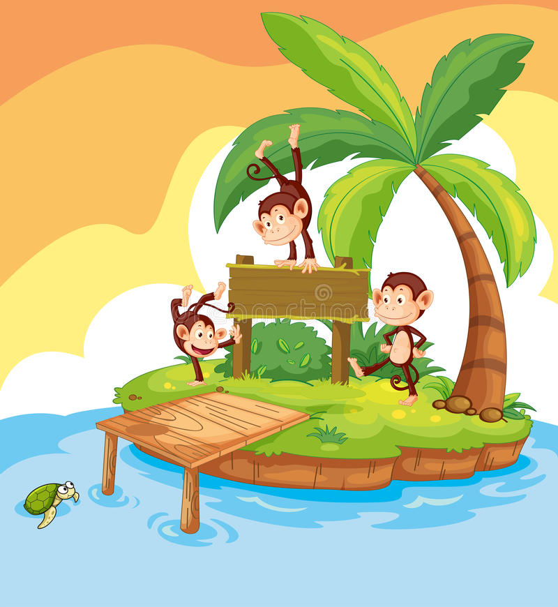 Free Three Monkeys On The Wooden Sign Royalty Free Stock Photo - 82526775