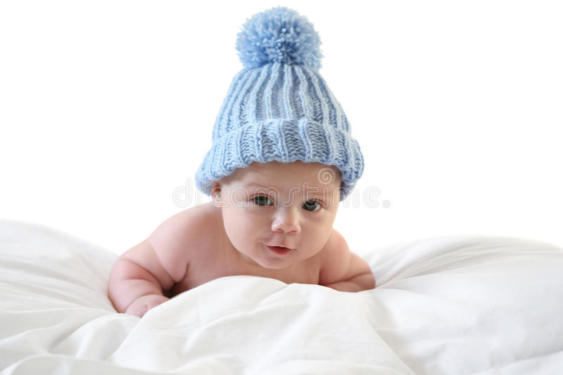 Download Three month baby with cap stock image. Image of cosmetics - 12348617