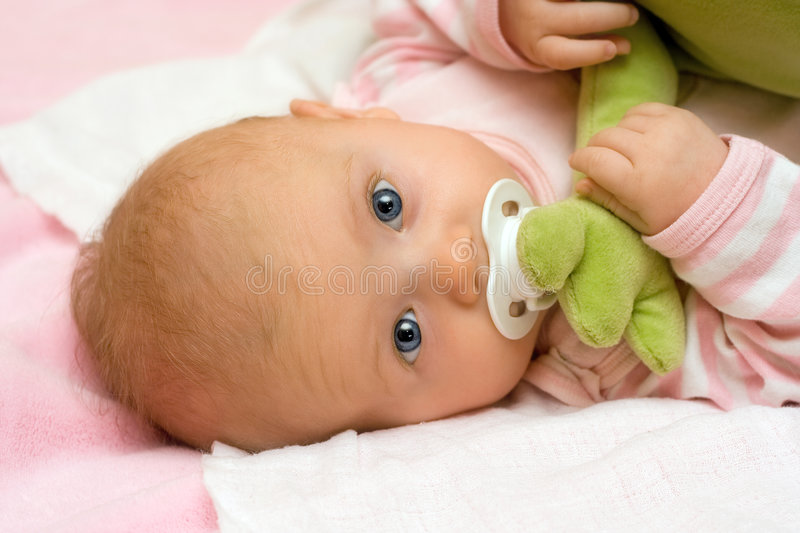 Download Three months old infant. stock photo. Image of child, baby - 1714644