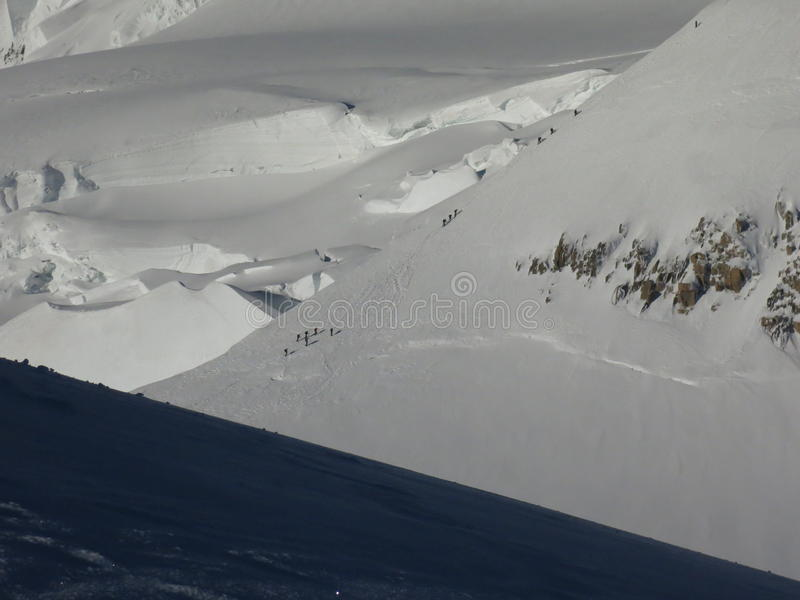 Three Monts route Mont Blanc royalty free stock photos