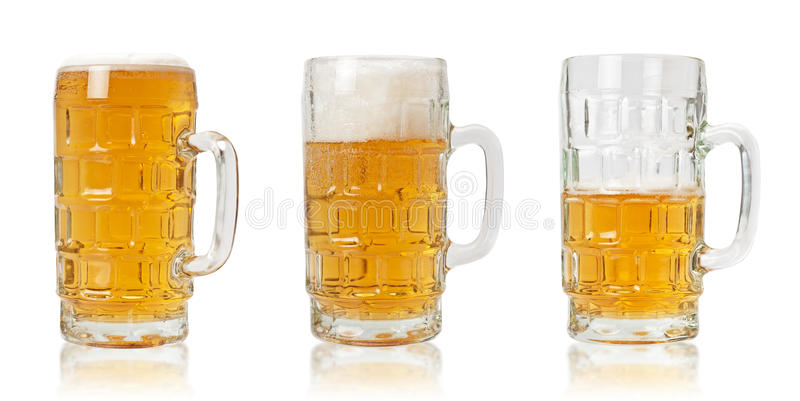 Download Three Mugs of Beer stock image. Image of thirst, isolated - 14303585