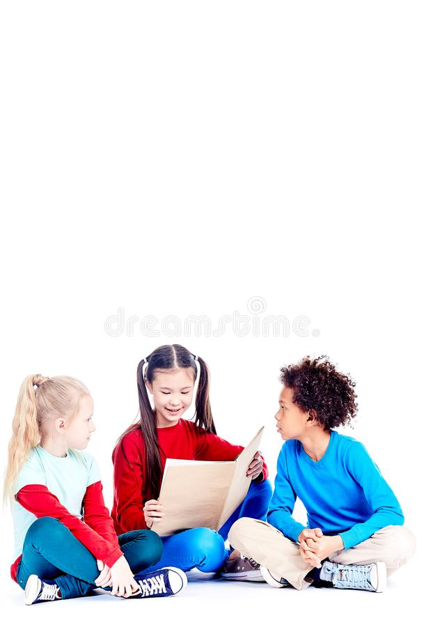 Studying together stock images