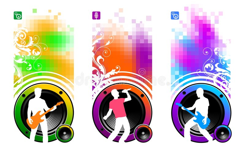 Download Three musicians stock vector. Image of equipment, digitally - 7705791