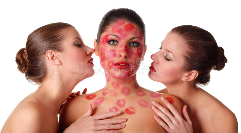 Three Naked Women Royalty Free Stock Photography