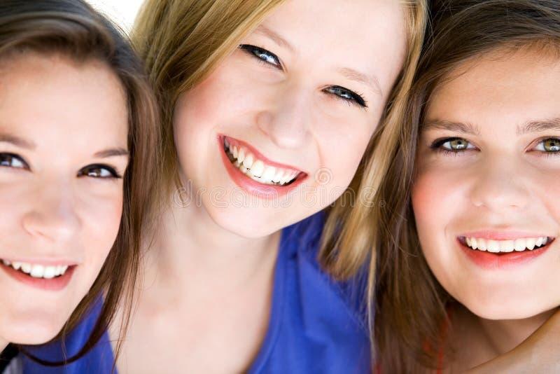 Three natural women royalty free stock photo
