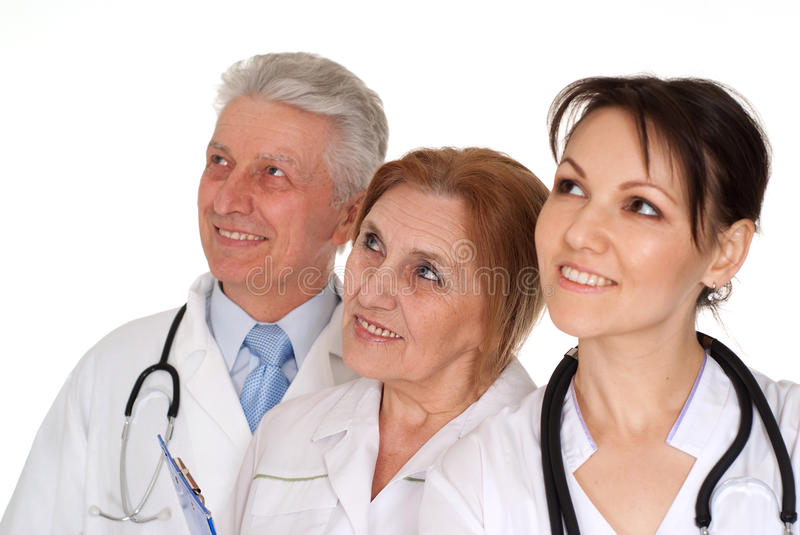 Download Three Nice Caucasian Doctor Standing Stock Image - Image: 24085697