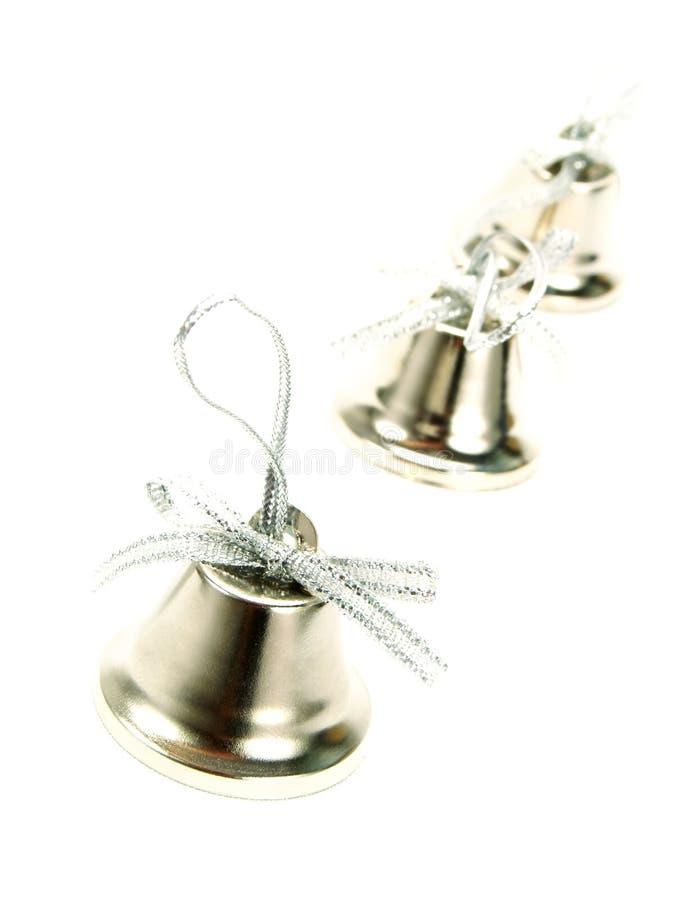 Free Three Nice Silver Christmas Bells Royalty Free Stock Photo - 7359455
