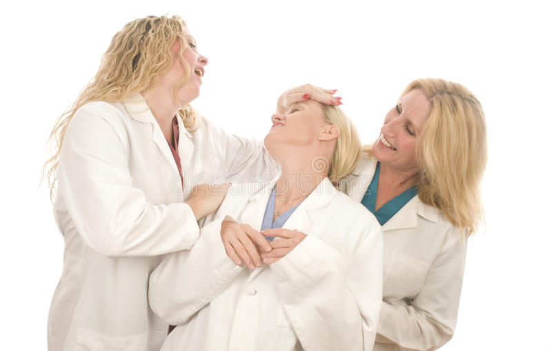 Download Three Nurses Medical Females With Happy Expression Stock Photo - Image: 10626138