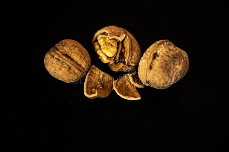 Three nuts stock photo