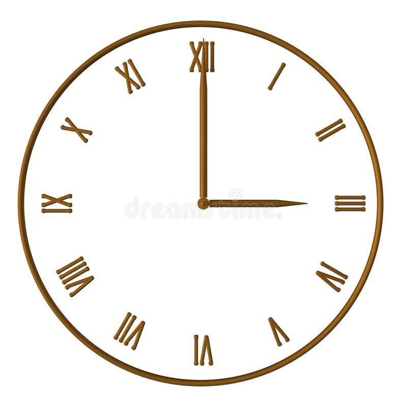 Three o´clock royalty free stock photography