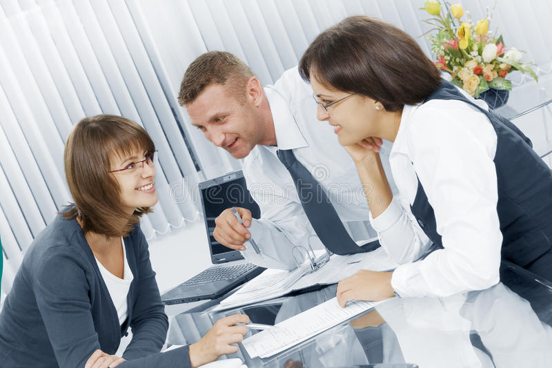 Download Three in office stock photo. Image of collaboration, confident - 12235172