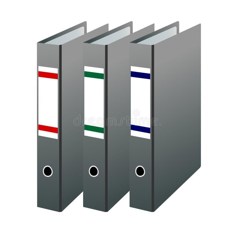 Three office folders royalty free illustration