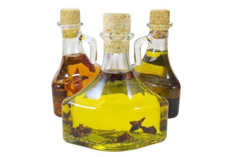 Three oils royalty free stock photography