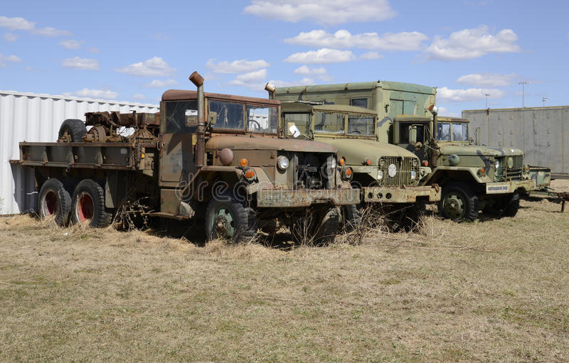Download Three Old Army Vehicles Parked In A Grass Field Stock Image - Image: 30156715