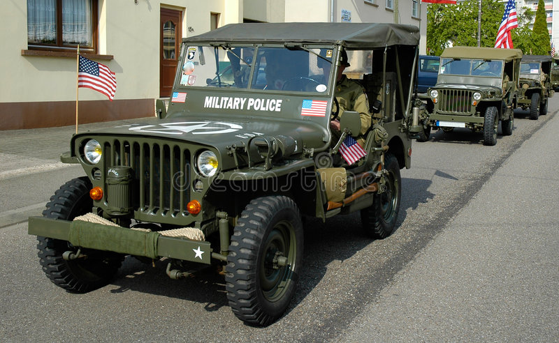 Three old MP Jeep royalty free stock images