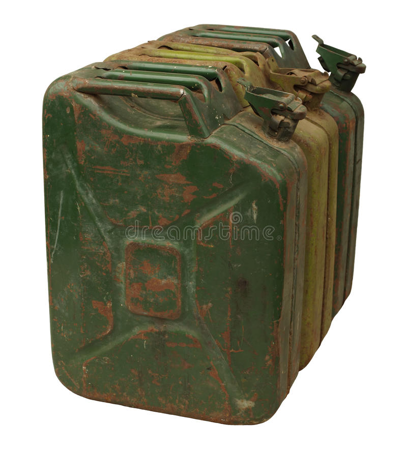 Download Three Old Rusty Gasoline Jerry Can Stock Photo - Image: 21747620