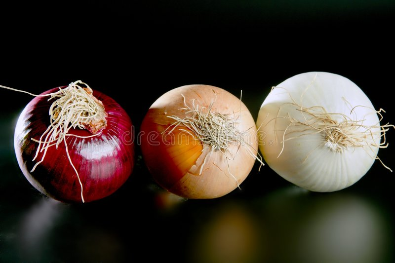 Download Three onion colors stock image. Image of agriculture, cutout - 8680587