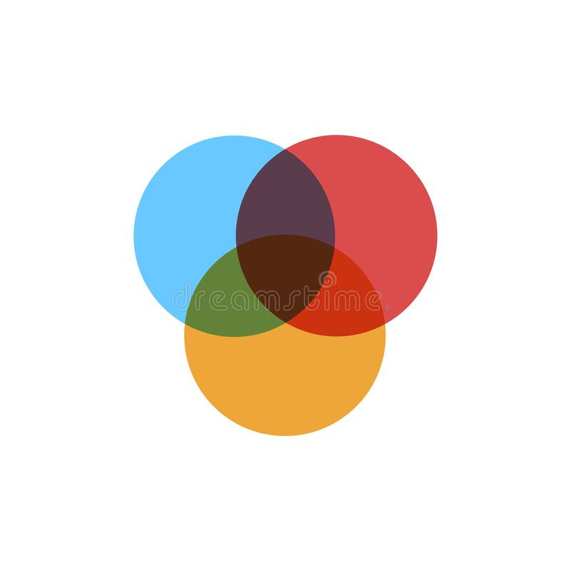Free Three Overlapping Circles. Venn Diagram Infographics For Three Circle Design Vector And Marketing Can Be Used For Workflow Layout Royalty Free Stock Photography - 188700957