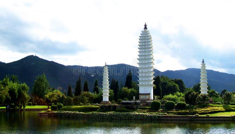 Three Pagodas royalty free stock photo