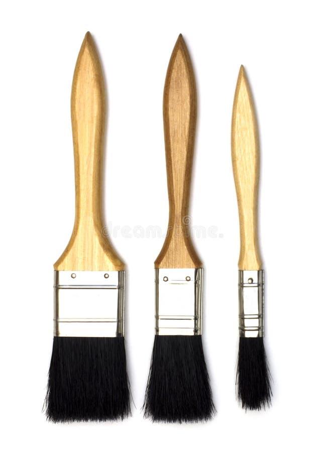 Three paintbrush stock images