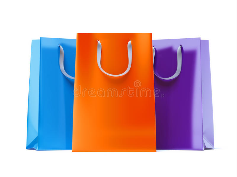 Download Three paper bags stock image. Image of shopper, group - 43309763