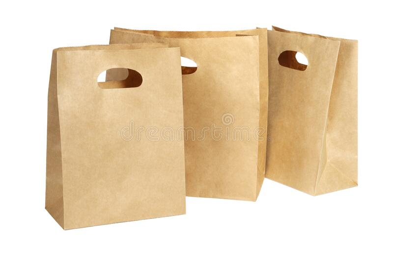 Three Paper Bags royalty free stock photography