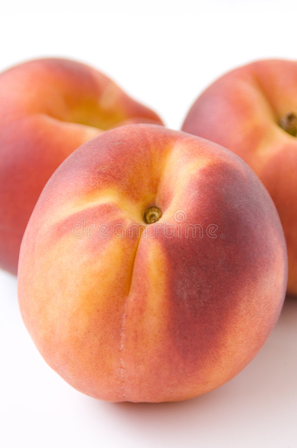 Download Three peaches stock image. Image of treat, diet, healthy - 1107563