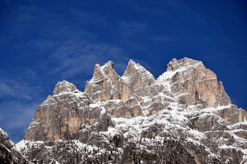 Three peaks of Lavaredo, beautiful landscape, Dolomiti mountains, Italy royalty free stock photos