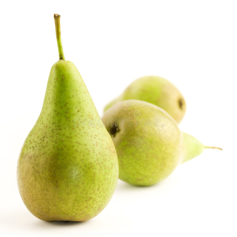 Three pears royalty free stock images