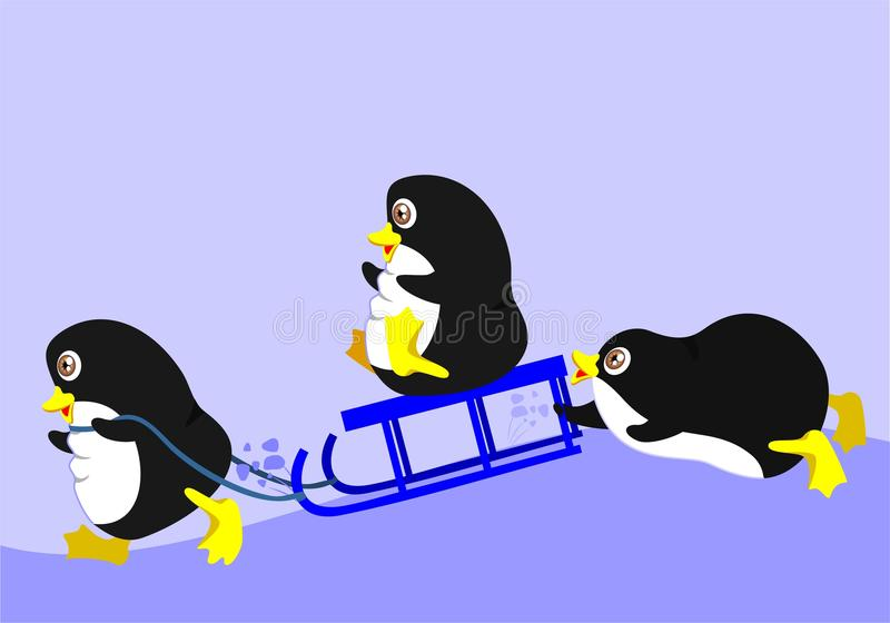 Download Three penguins stock vector. Illustration of frosty, animals - 18764635
