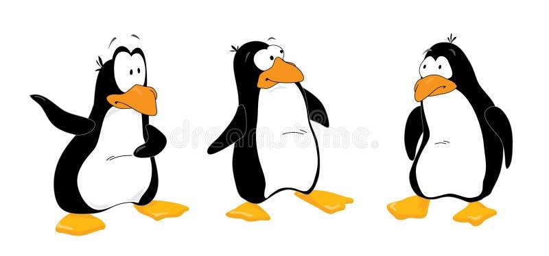 Three_penguins_look_out vektor abbildung