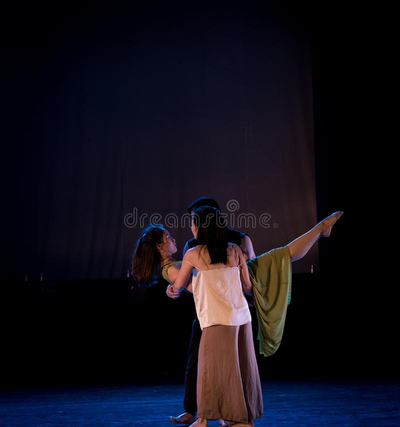Three people become public-Act 2: Triangle relation-Modern Dance Dreamland stock photos