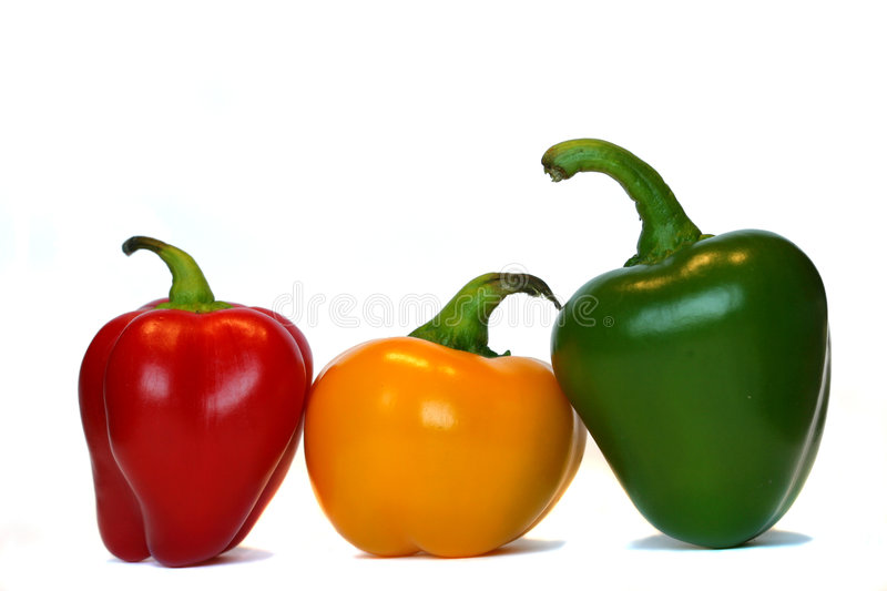 Download Three Peppers In A Row Stock Images - Image: 190124