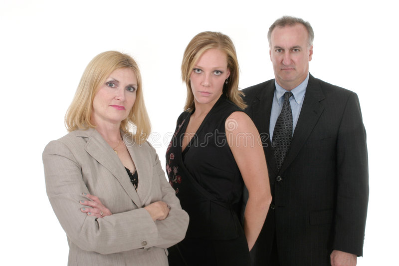 Three Person Business Team 4 royalty free stock photos