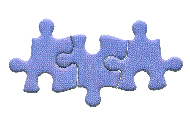 Download Three piece jigsaw stock photo. Image of togetherness - 6267972